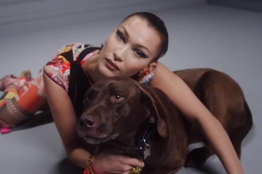 Versace Commercial - Bella Hadid & Dog