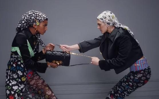 Versace Handbag Commercial - Models Imaan Hammam and Vittoria Ceretti