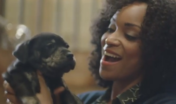Cadillac Puppy Prep Commercial - Happy Woman Playing With Puppy Dog