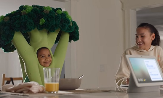 Google Nest Hub Max Commercial - Boy Costumed as Broccoli