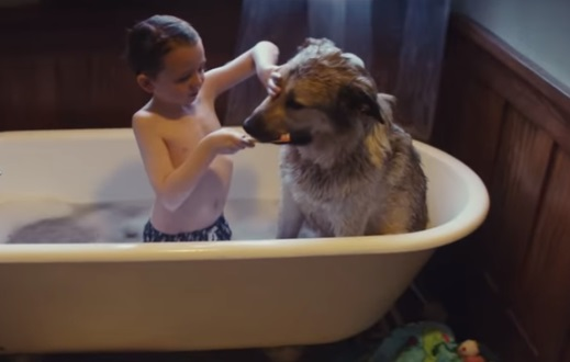 Google Nest Commercial - Kid and Dog in the Bathtub