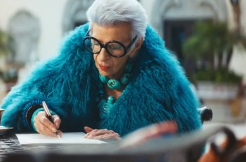 Magnum Old Lady Writing Her Will Advert - Iris Apfel