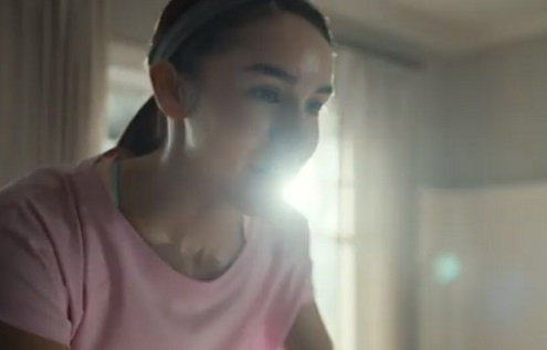 Peloton Commercial Girl