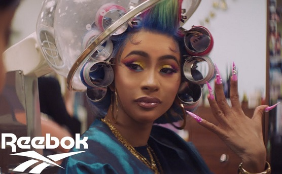 Reebok Cardi B in Beauty Shop Fingernails Commercial