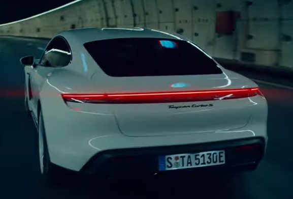 All-Electric Porsche Taycan Commercial