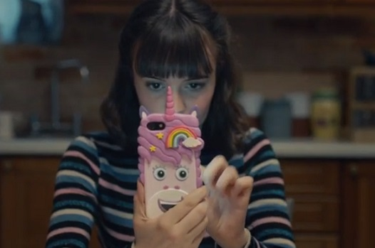 Just Eat The X Factor 2019 Advert - Singing Unicorn Phone Case