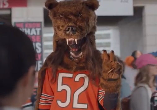 Visa Bear Mascot Costume Commercial