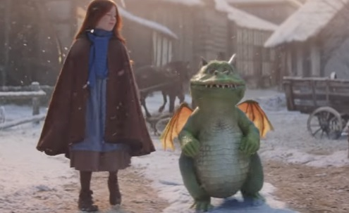 John Lewis & Partners Christmas TV Advert - Red-Haired Girl and Little Dragon
