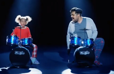 Argos Christmas TV Advert - Dad & Daughter Playing the Drums