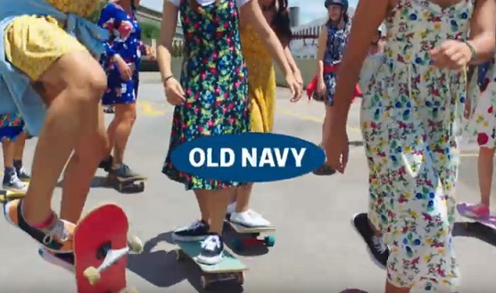 Old Navy Canada Commercial - Girls on Skateboards