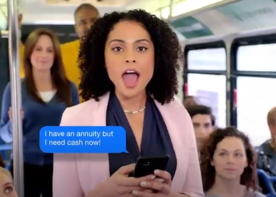 J.G. Wentworth Opera Bus Curly Girl in Pink Blazer Commercial - Actress Briana Cortesiano