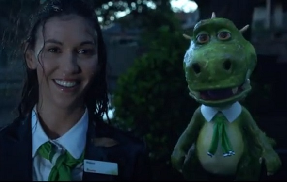 St. George Commercial - Girl & Green Dragon