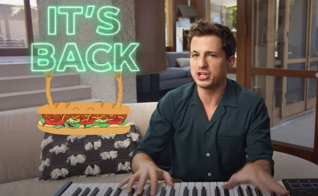 Subway $5 Footlongs Charlie Puth Commercial