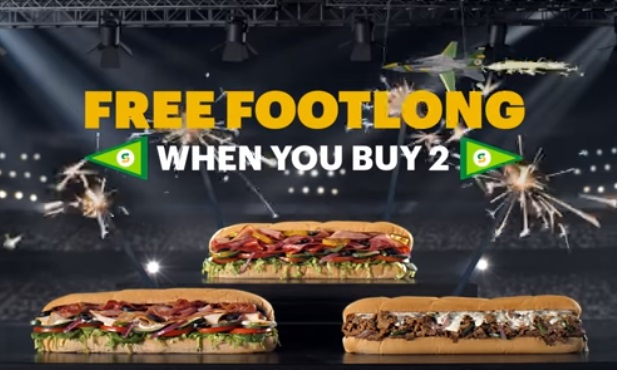 Subway Free Footlong When You Buy 2 Commercial