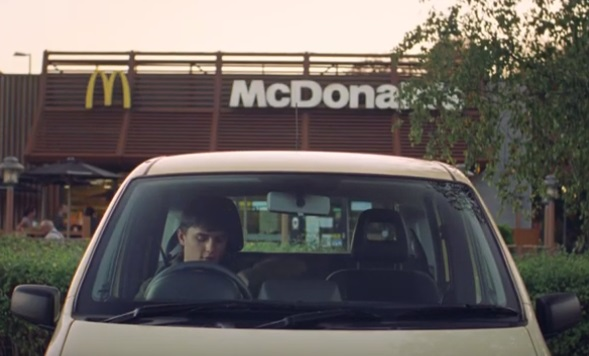 McDonald's UK TV Advert- Feat. Teenage Boy Driving His Mother's Old Car