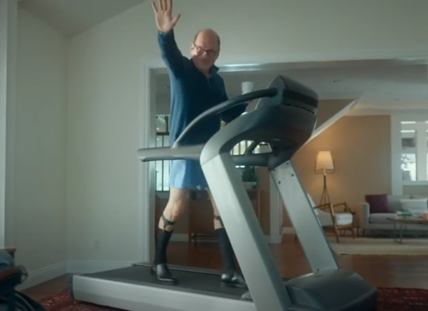 ServiceNow Commercial Actor on Treadmill