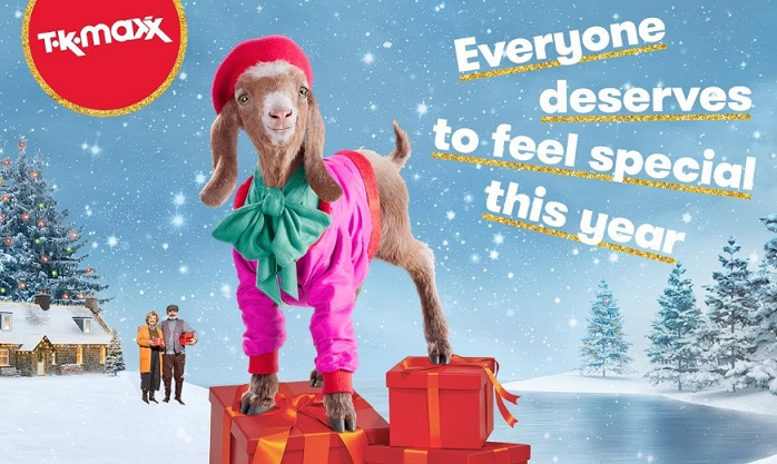 TK Maxx Christmas Advert Goat