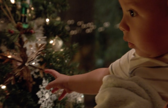 Walmart America's Cart Christmas Commercial - Little Baby and Christmas Tree