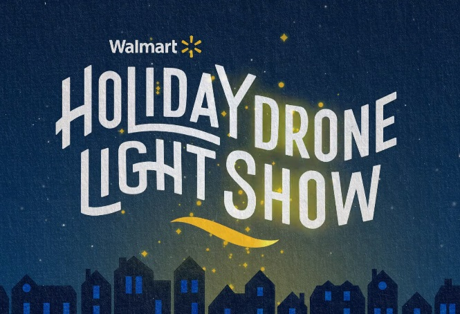 Walmart Holiday Drone Light Show Commercial
