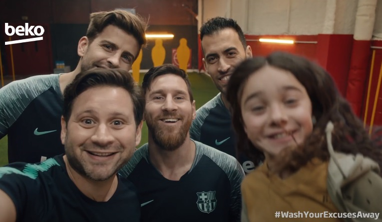 Beko SteamCure Commercial - Feat. Lionel Messi, Gerard Pique, Sergio Busquets & Marc-André ter Stegen