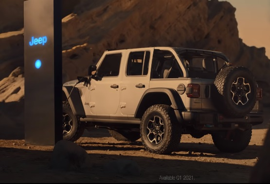 2021 Electric Jeep Wrangler 4xe Commercial