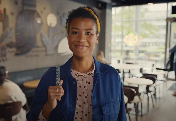 Starbucks UK Advert Girl