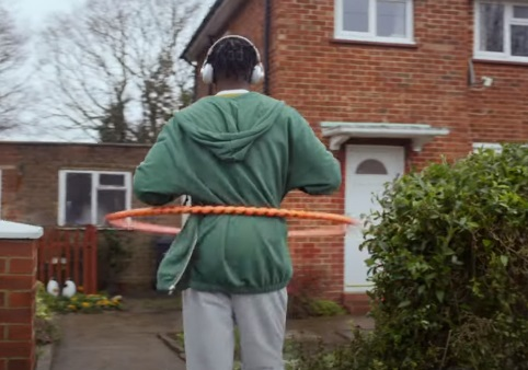 Lucozade Energy Guy Spinning Hula Hoop Commercial