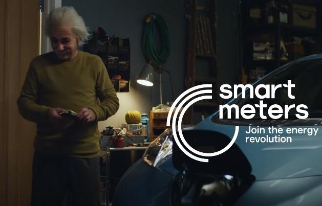 Smart Meters Albert Einstein Electric Car Advert