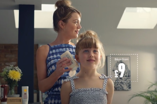Matalan Summer Advert - Feat. Mom Putting on Mayonnaise on Her Daughter's Back