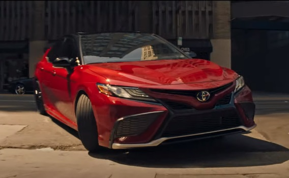 Toyota Camry Hybrid Red Commercial