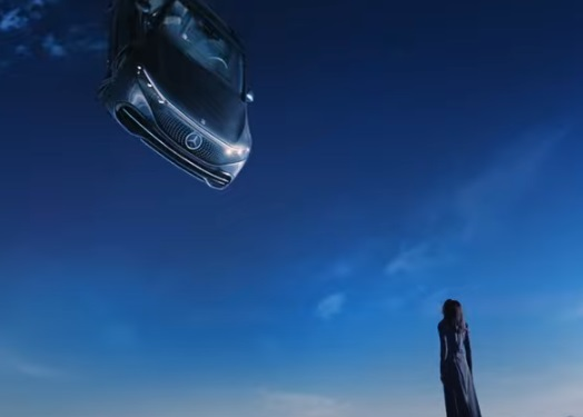 2022 Mercedes-Benz EQS All-Electric Car Falling from the Sky Commercial