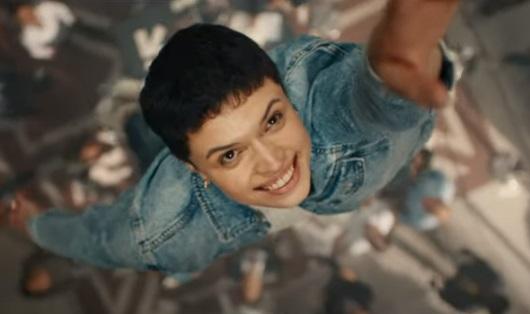 Starling Bank Advert Actress Flying Woman