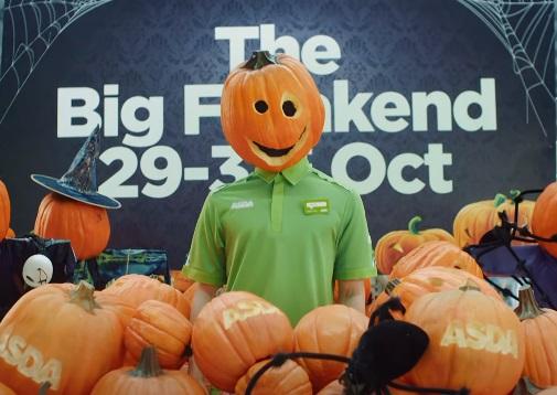 Asda Halloween The Big Freakend Advert - Pumpkin Head Mask