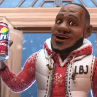 8eba9a7cd12 Sprite Cranberry Christmas Commercial Song – Animated LeBron James   DRAM
